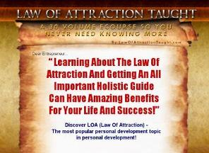 law of attraction taught