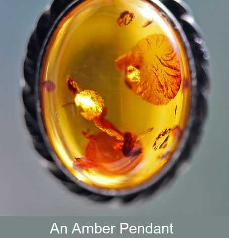 Lucky amber pendant