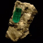 Emerald crystals and gemstones