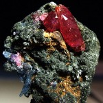 ruby crystals and gemstones