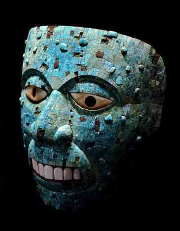 turquoise Xiuhtecuhtli Mask