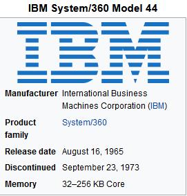 IBM 360-44 computer